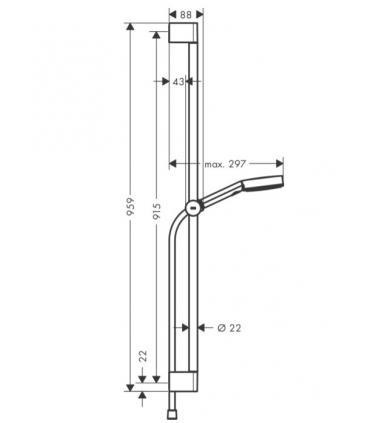 Côté fixe pour cabine de douche, Ideal Standard collection Kubo