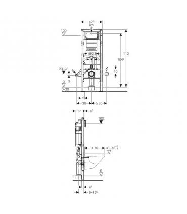 Spout for bathtub wall hung, Grohe, collection Allure