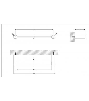 Cistern backpack with front hole for toilet, Simas Arcade