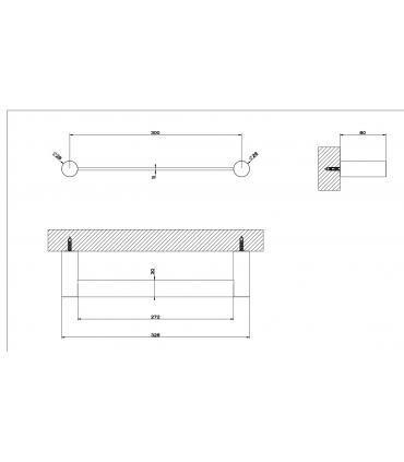 Reservoir a' dos avec trou  frontal pour wc, Simas Arcade