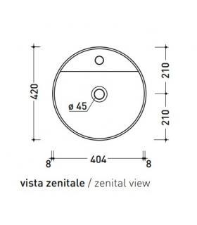 Lavatoio con mobile a 2 ante, Geromin collezione Smart art.7003SMARTCL