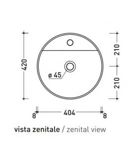 Washtub including furniture with 2 doors, Geromin collection Smart