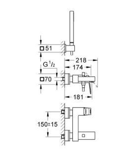 Shower tray Teuco Suit made of Duralight white matt