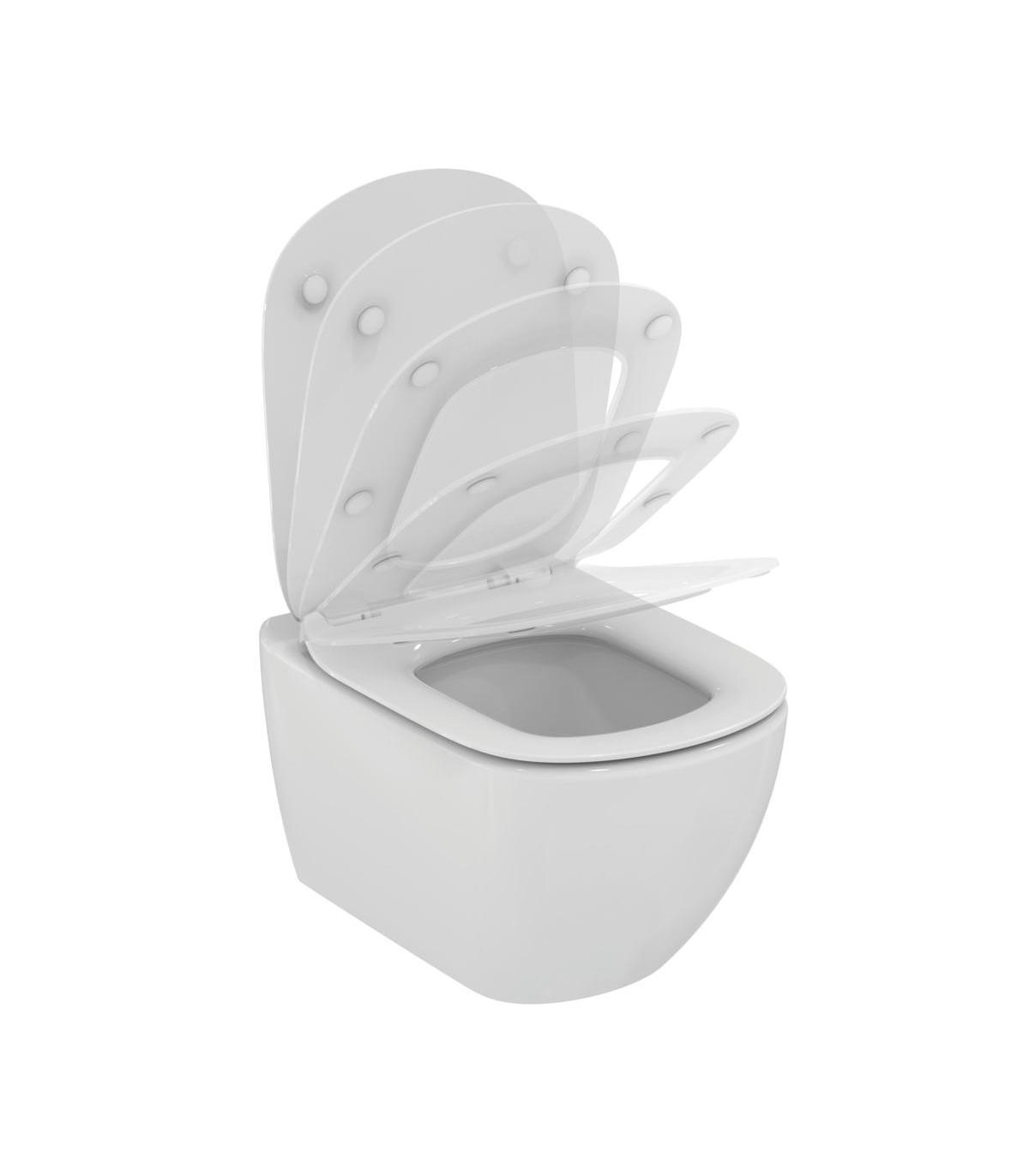 Sedile Wc Ideal Standard Serie Tesi.Vaso Wc Sospeso Ideal Standard Tesi Aquablade Con Sedile Slim