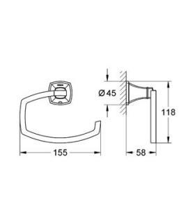 Porta sapone, Koh-i-noor, Serie Tilda, Modello 5730, cromato, da appoggio