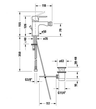 maniglia base oro con vetro di murano Fantini Venezia art.N448CB