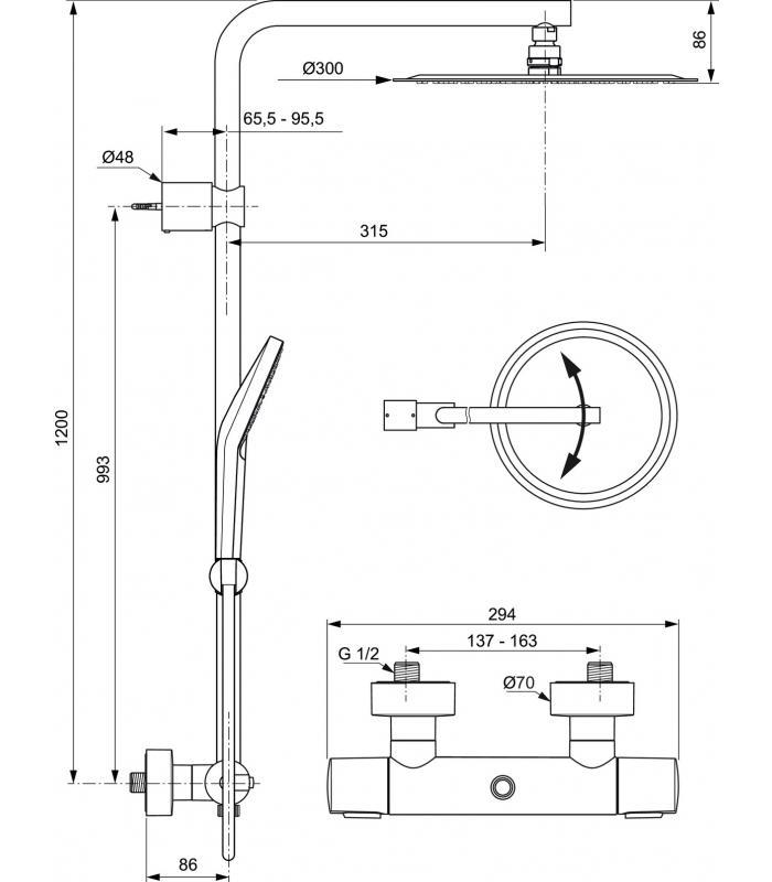 Miscelatore vasca esterno ideal standard ceramix blu - Miscelatore cucina ideal standard ...