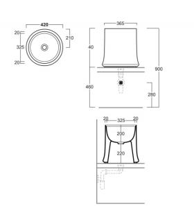 Single hole mixer for sink Hansgrohe collection Focus