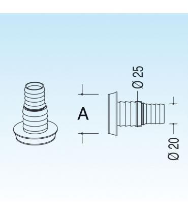 Colonna di completamento per lavabo, Simas collezione Arcade art.25003