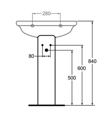 Colonnes pour achèvement lavabo, Ideal Standard collection Esedra