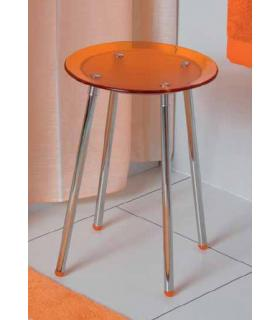 Stool with legs made of stainless steel, Koh-i-noor collection Noni