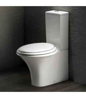 Close-coupled toilet back to wall horizontal or vertical outlet HATRIA collection Sculture