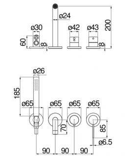 Bidet back to wall single hole HATRIA collection Erika pro Q