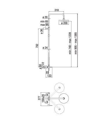 Sliding panel for angular shower box Ideal Standard Magnum A