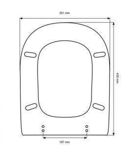 Toilet seat with normal closure Ideal Standard Calla