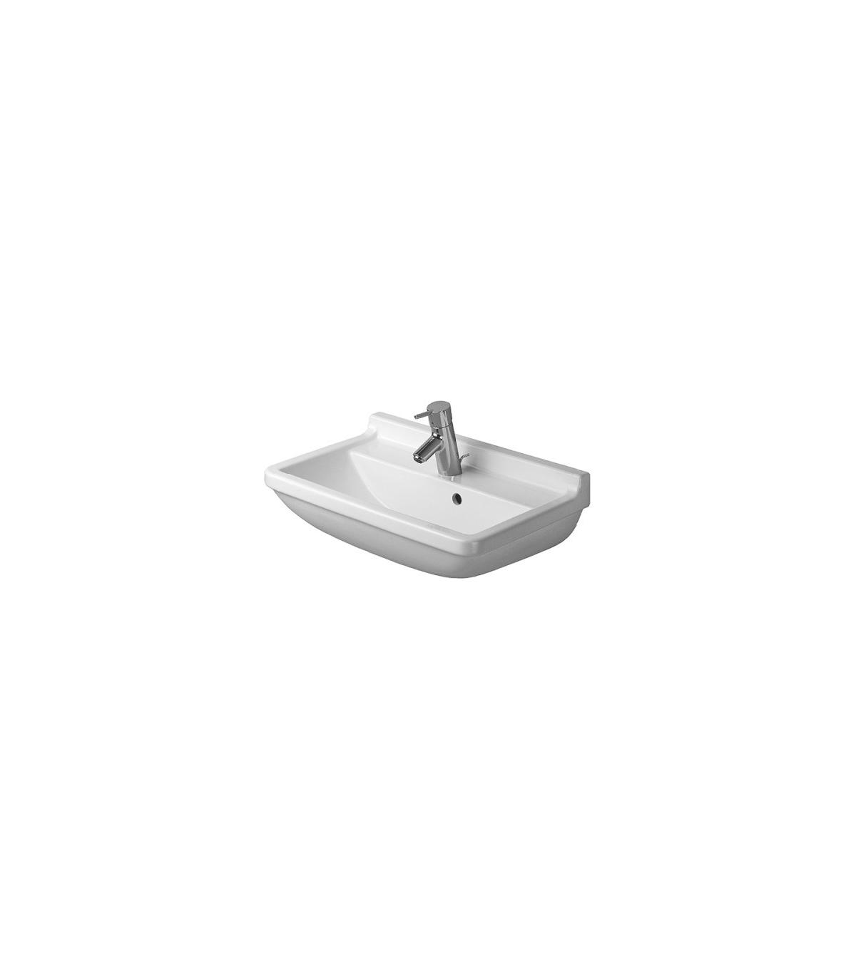 duravit, lavabo da 55cm monoforo, starck 3, art.030055, bianco