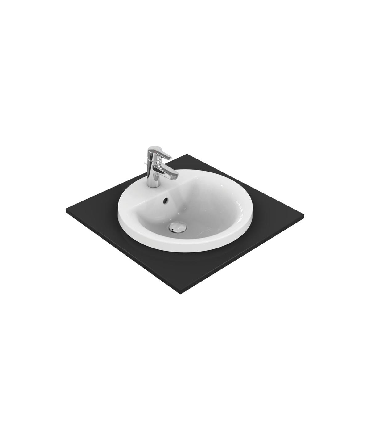 Lavabi Ad Incasso Ideal Standard.Lavabo Monoforo Da Incasso Soprapiano Ideal Standard Connect Tondo