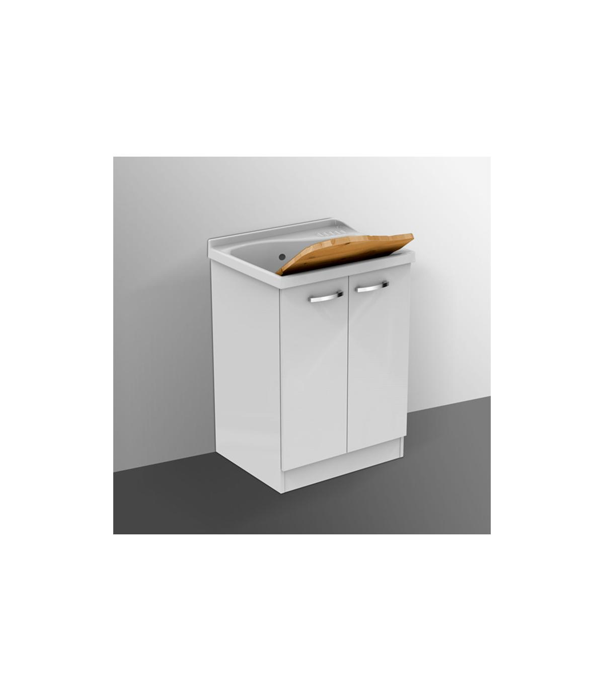 Lavatoio Ceramica Con Mobile.Mobile Per Lavatoio Lago Ceramica Dolomite Con Asse In Legno