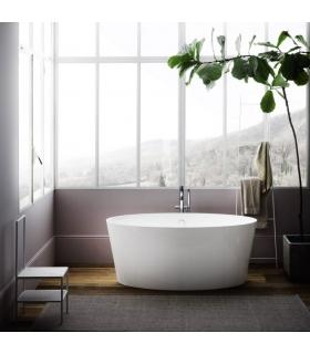 Freestanding bathtub, Tub, Arbi 160x75 made of Mineralguss