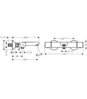 Nobili abc 87100 shower-bathtub mixer with diverter, chrome