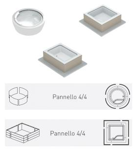 Pannello Bolla solid surface effetto boiserie 4 lati
