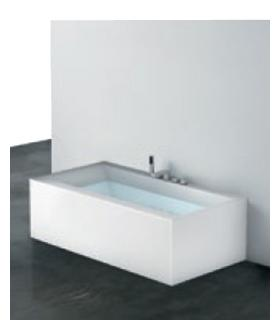 Baignoire  AIRPOOL Sensual en matiere Corian blanc opaque sans robinet