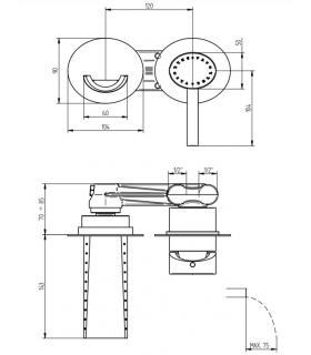 Plate-forme pour douche, Lineabeta, collection Atlantica, modèle 7230, bois, triangolare
