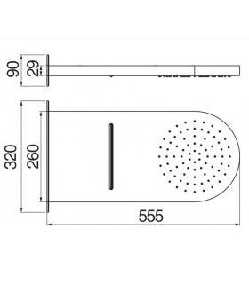 Plate-forme pour douche, Lineabeta, collection Atlantica, modèle 7226, bois, carréta