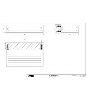 Plate-forme pour douche, Lineabeta, collection Atlantica, modèle 7227, bois, carréta