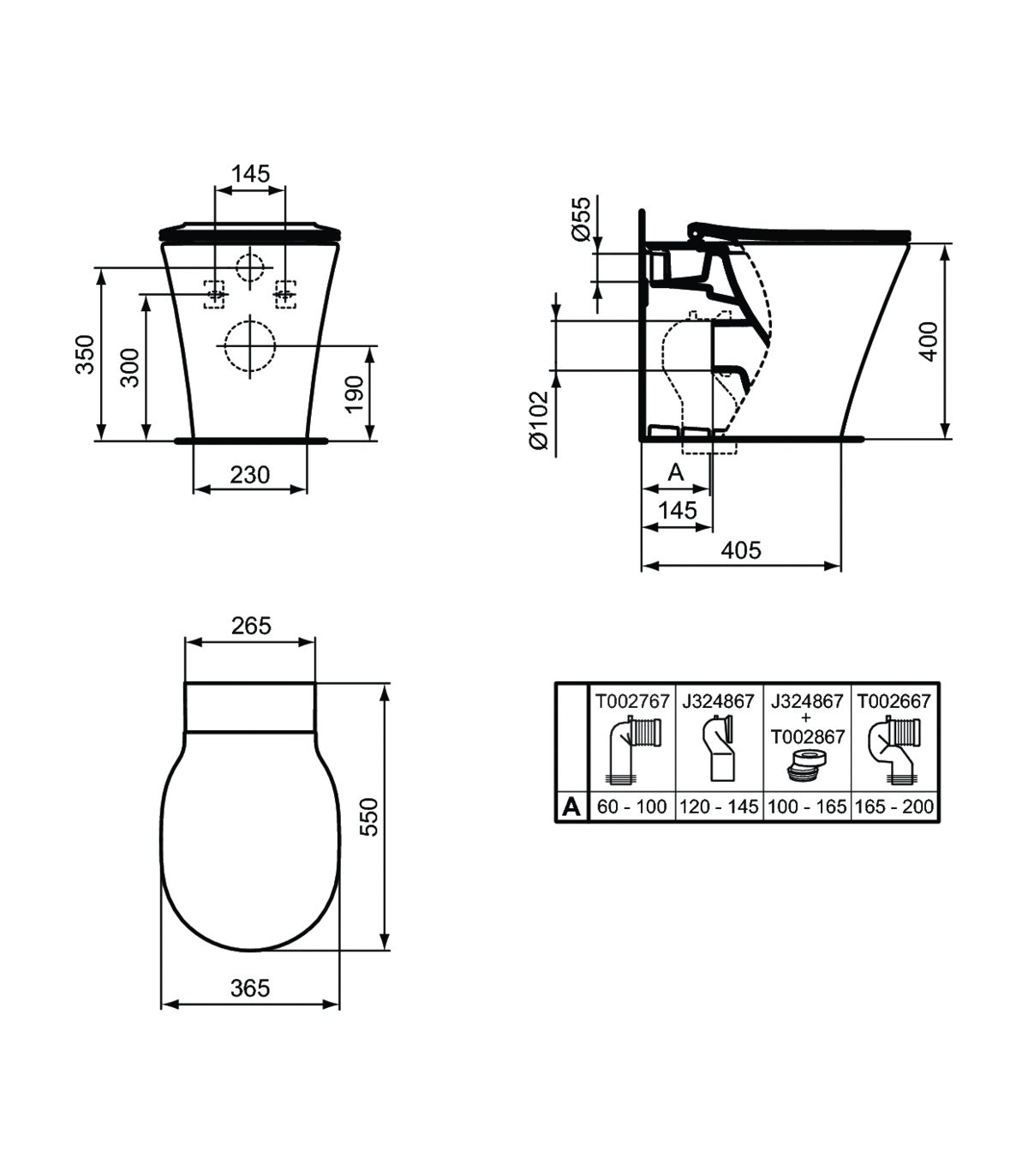 Wc Filo Parete E Sedile Ideal Standard Connect Air