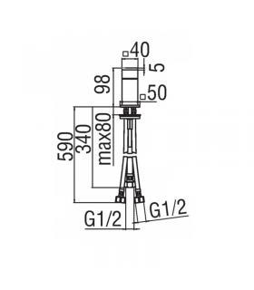 Wall tile  Marazzi Struttura 25x38 cm