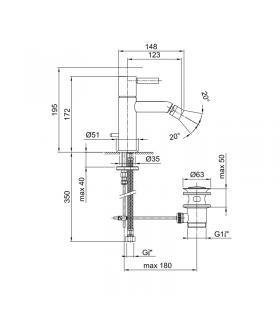 Sedile Colbam con cerniere cromo Ideal Standard Diagonal 281436.