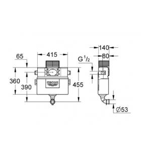 Convector to be combined with the conditioner without external unit