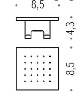 Toilet brush holder floor standing or wall mounted collection My Love Inda