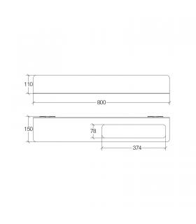 Towel warmer  Irsap Get Up white with function clotheshorse