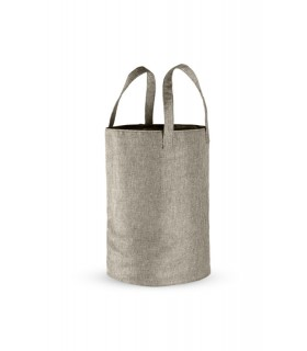 Laundry basket, Lineabeta, collection Sesti, model 707, bag shape with handle, grey