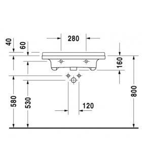 Colonne suspendu RCR salle de bain ouverture dx o sx 35x35cm H150