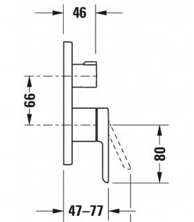 RCR bathroom reversible horizontal or vertical wall unit p.22cm