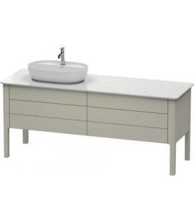 étagère RCR salle de bain beton 120cmx51,2 H10cm avec lavabo sur pied