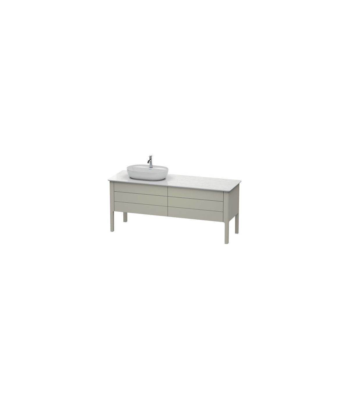 Mensola RCR bagno beton 120cmx51,2 H10cm con lavabo da appoggio