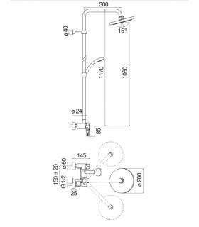 External tile  Marazzi Pietra Occitana 30X60