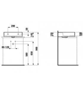 Towel warmer  bathroom  Irsap Quadre', attacks  50 mm, white