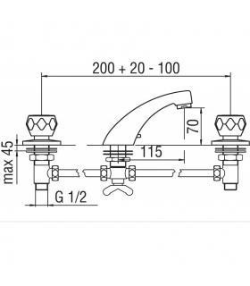 Tuile mosaïque   pour le revêtement  Marazzi série  Alchimia 30x37 à chevrons