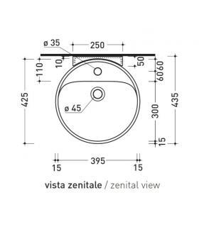 curva tecnica scarico per vaso, Bampi art.BSW032000