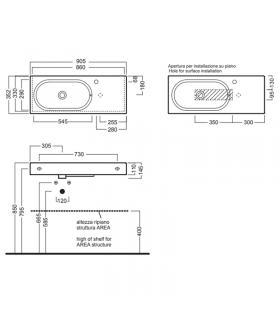 Piastrella da esterno Marazzi serie Mystone Ardesia 30x60