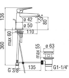 Miscelatore bidet Ideal Standard Ceramix New art.A6545AA