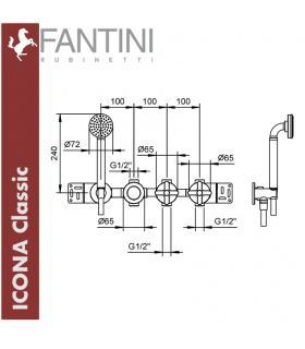 Baignoire droite Minerva Outdoor blanc avec cadre et recirculation  automatique ico