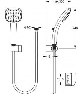 WC monobloc  Duravit, collection D-Code, art.2111010000, blanc