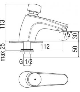 Double angular shower grid, Lineabeta, collection Filo, model 50032, chrome.