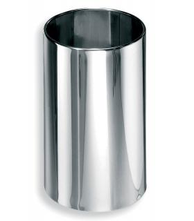 Bathroom dustbin, Lineabeta, collection Basket, model 5345, stainless steel/polish